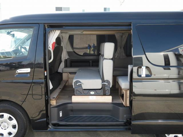 リノ匠 FOCS DS-Fスタイル 8ナンバーキャンピングカー リノベーション 新規架装 7名乗車 ファスプシート サブバッテリー 走行充電 外部充電 LED照明 冷蔵庫 床下収納(28枚目)