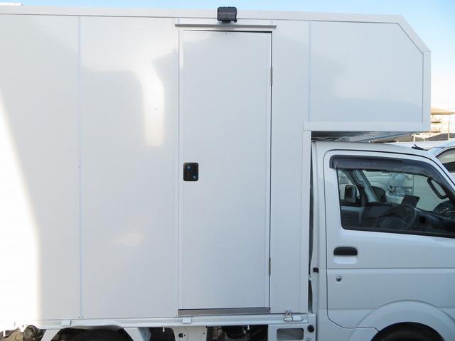KCエアコン・パワステ 移動販売車 キッチンカー 4WD スズキセーフティサポートデュアルカメラ バックカメラ 正弦波インバーター サブバッテリー 外部充電 ステンレスシンク 給水排水タンク サッシ LEDライト 4ナンバー(23枚目)