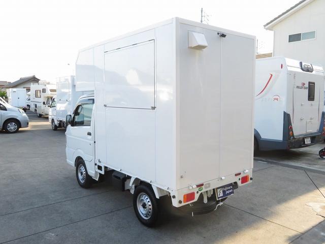 KCエアコン・パワステ 移動販売車 キッチンカー 4WD スズキセーフティサポートデュアルカメラ バックカメラ 正弦波インバーター サブバッテリー 外部充電 ステンレスシンク 給水排水タンク サッシ LEDライト 4ナンバー(34枚目)