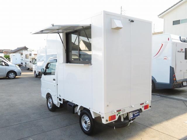 KCエアコン・パワステ 移動販売車 キッチンカー 4WD スズキセーフティサポートデュアルカメラ バックカメラ 正弦波インバーター サブバッテリー 外部充電 ステンレスシンク 給水排水タンク サッシ LEDライト 4ナンバー(38枚目)