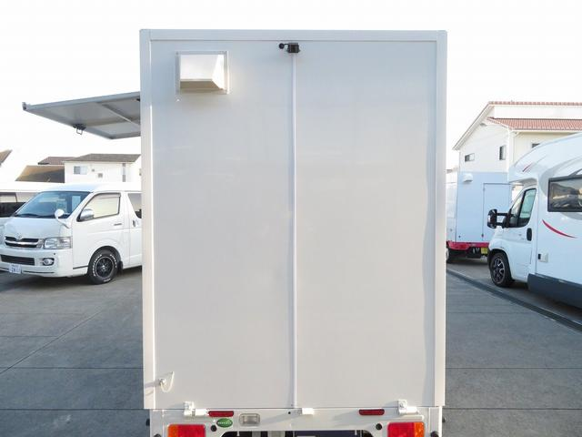 KCエアコン・パワステ 移動販売車 キッチンカー 4WD スズキセーフティサポートデュアルカメラ バックカメラ 正弦波インバーター サブバッテリー 外部充電 ステンレスシンク 給水排水タンク サッシ LEDライト 4ナンバー(39枚目)
