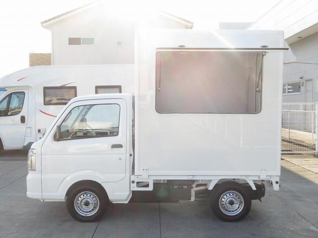 DX 移動販売車両 キッチンカー シンク 給水排水タンク 換気扇 100V外部電源 ステンレス製カウンター LED室内照明 Wエアバック ABS パワステ 4ナンバー登録(2枚目)