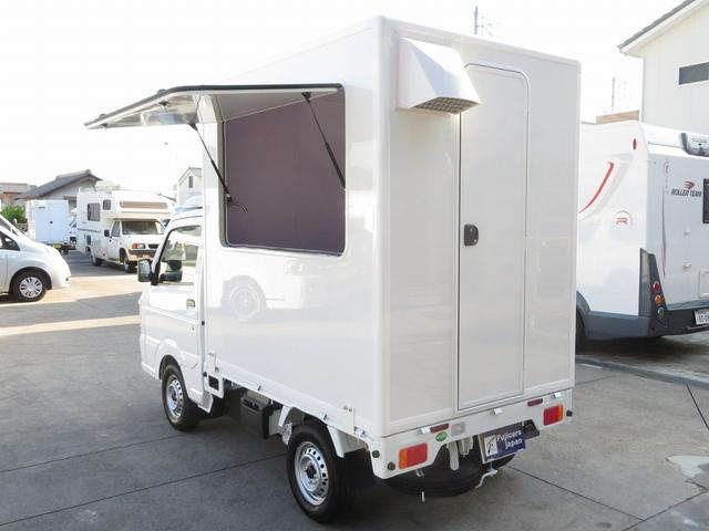 DX 移動販売車両 キッチンカー シンク 給水排水タンク 換気扇 100V外部電源 ステンレス製カウンター LED室内照明 Wエアバック ABS パワステ 4ナンバー登録(3枚目)