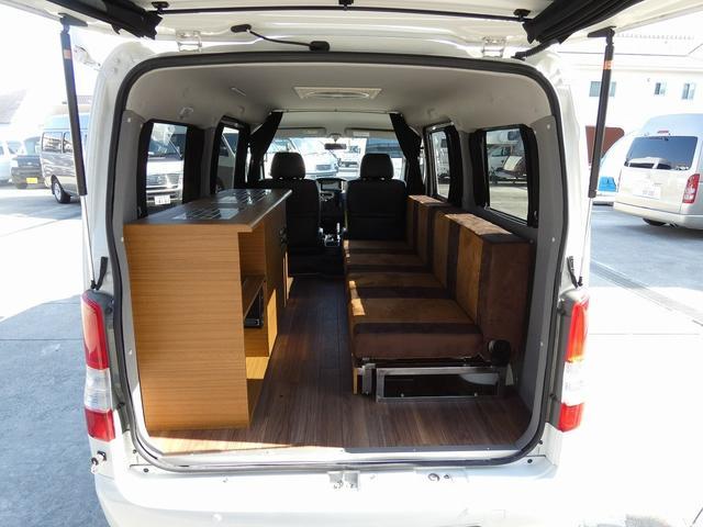 ステージ21 リゾートデュオユーロ キャンピングカー 4WD サブバッテリー ルーフベント サイドオーニング ローダウンサス インバーター1500W ポータブル冷蔵庫 べバストFFヒーター シンク 給排水タンク(8枚目)