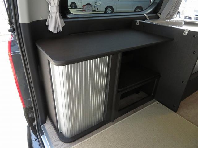 8ナンバーキャンピングカー 宮大工工法 高断熱 サブバッテリー 走行充電 外部充電 シンク 冷蔵庫 ファスプシート(8枚目)