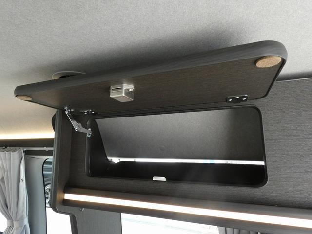 8ナンバーキャンピングカー 宮大工工法 高断熱 サブバッテリー 走行充電 外部充電 シンク 冷蔵庫 カセットコンロ LED照明 リアスピーカー フリップダウンモニター(14枚目)