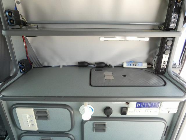 ホワイトハウス製マイボックス 5ナンバーキャンピング仕様 ターボ 4WD サブバッテリー 走行充電 外部充電 ソーラーパネル シンク 収納棚 ベッドマット テーブル(12枚目)