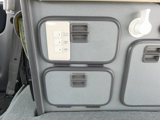 ホワイトハウス製マイボックス 5ナンバーキャンピング仕様 ターボ 4WD サブバッテリー 走行充電 外部充電 ソーラーパネル シンク 収納棚 ベッドマット テーブル(15枚目)