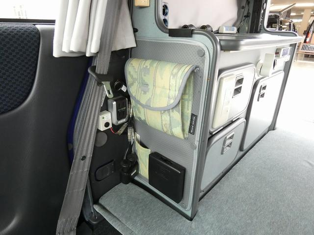 ホワイトハウス製マイボックス 5ナンバーキャンピング仕様 ターボ 4WD サブバッテリー 走行充電 外部充電 ソーラーパネル シンク 収納棚 ベッドマット テーブル(16枚目)