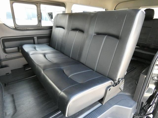 フレックス製 アレンジCT 3ナンバー車中泊仕様 10名乗車 社外ハンドル 社外テールライト ローダウン LEDヘッドライト スマートキー フルフラットサイズ長さ2600mm幅1400mm(3枚目)