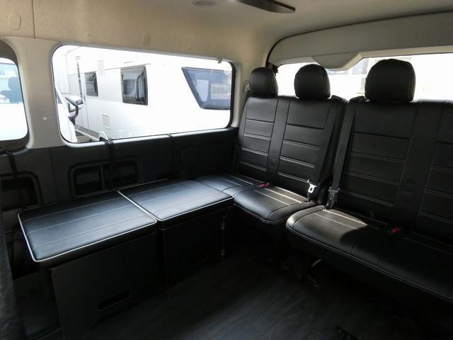フレックス製 アレンジCT 3ナンバー車中泊仕様 10名乗車 社外ハンドル 社外テールライト ローダウン LEDヘッドライト スマートキー フルフラットサイズ長さ2600mm幅1400mm(4枚目)