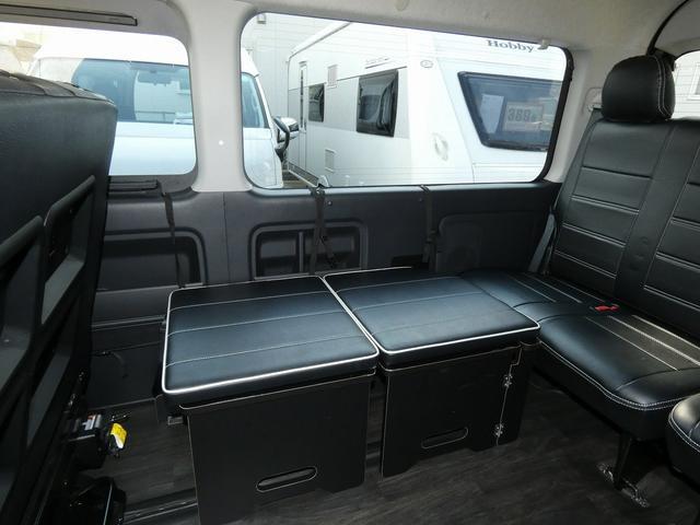 フレックス製 アレンジCT 3ナンバー車中泊仕様 10名乗車 社外ハンドル 社外テールライト ローダウン LEDヘッドライト スマートキー フルフラットサイズ長さ2600mm幅1400mm(5枚目)