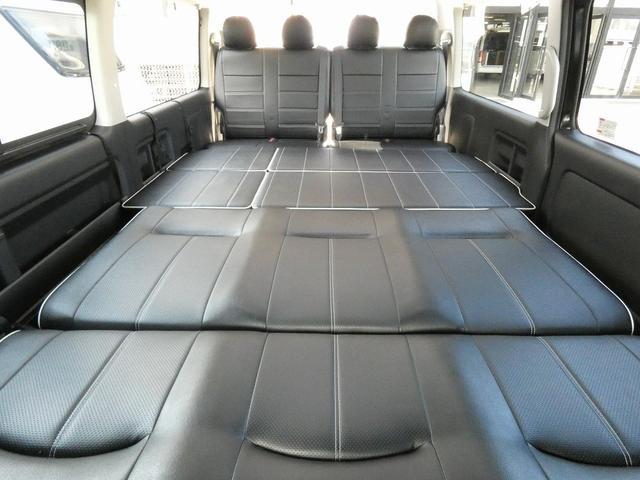 フレックス製 アレンジCT 3ナンバー車中泊仕様 10名乗車 社外ハンドル 社外テールライト ローダウン LEDヘッドライト スマートキー フルフラットサイズ長さ2600mm幅1400mm(12枚目)