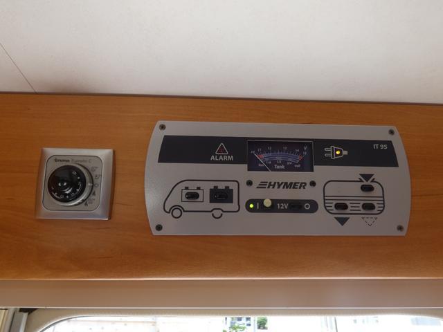 フォード トランジット ハイマーエクシス512 ツインサブバッテリー 1500Wインバーター 冷蔵庫 シンク 電子レンジ 温水ボイラー シャワー トイレ FFヒーター ソーラーパネル(37枚目)