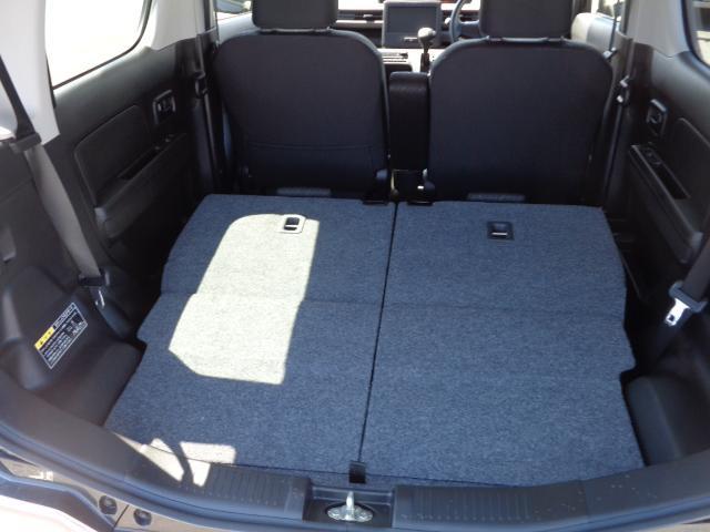 リヤシート前倒しすると、荷室空間更に拡がります。
