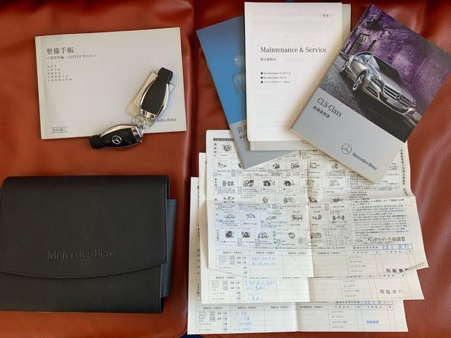 CLS350ブルーエフィシェンシAMGスポーツパケジ ワンオーナー ディーラー記録簿完備 AMG63エンブレム サンルーフ 黒革 シートヒーター 純ナビ地デジBカメラ ETC 取説 新車保証書 記録簿 スペアキー(5枚目)