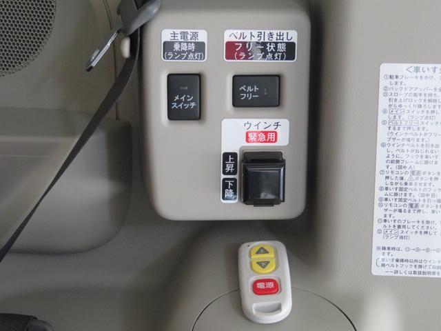 スイッチ操作でウインチ等の操作が出来ます。