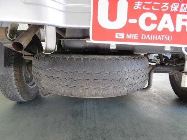 パンクの時も安心、スペアタイヤが付いてます。