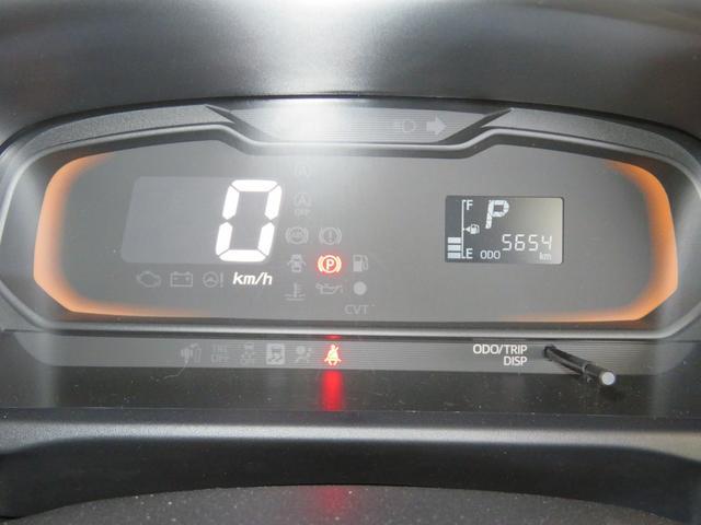 自発光式デジタルメーター。メーターを撮影。5654Kmと距離少ないです。