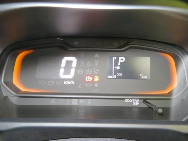 自発光式デジタルメーター。5Kmと距離少ないです。