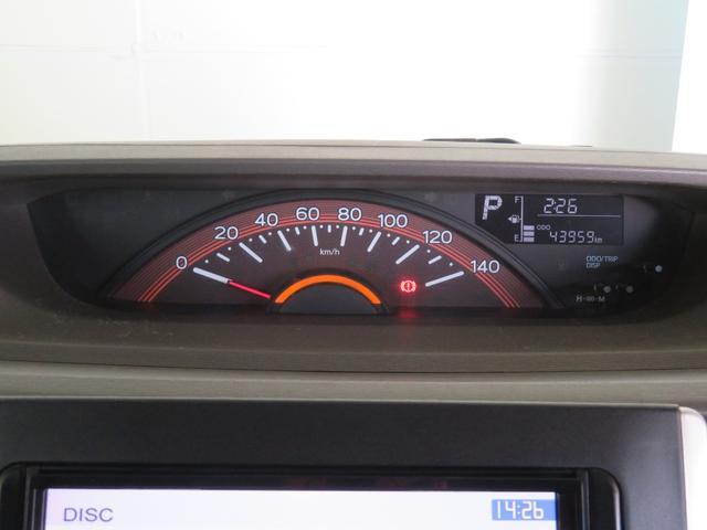 スピードメーターは,シンプルで見やすいです。実走距離43959Kmです。