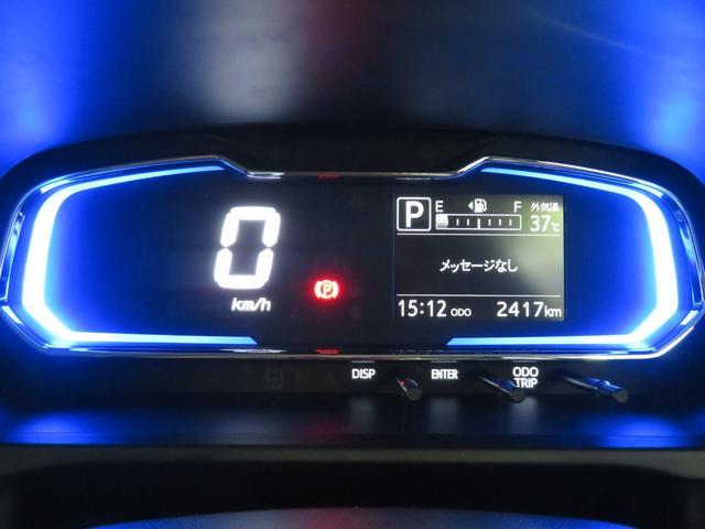 自発光式デジタルメーター。実走距離2417km。エコドライブアシスト照明付きです