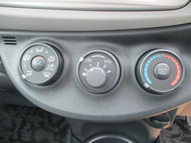 マニュアルエアコンです。いつでも車内を快適にしてくれます