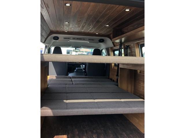 デラックス ロング 新車未登録 家具&ウッド調2段ベッド(8枚目)