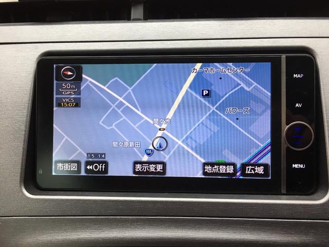 トヨタ プリウス S New黒革調シートカバー フルセグSDナビ Bカメラ