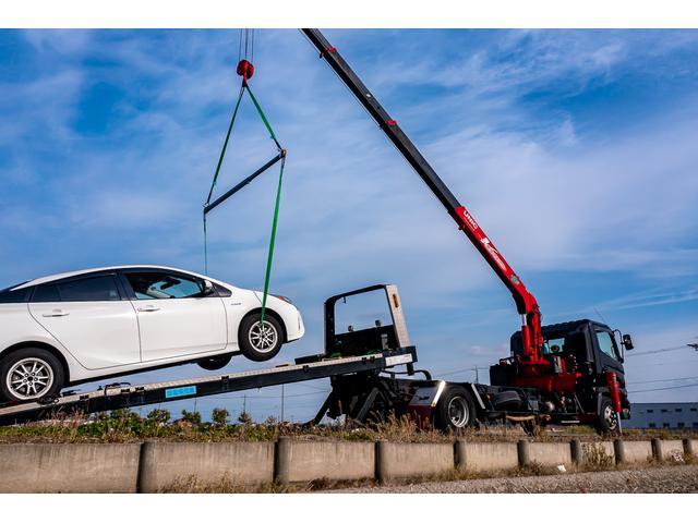 クレーン付き 積載車 極東フラトップ 開閉アオリ ラジコン 4段クレーン 差し違いアウトリガー ミラー型バックカメラ 6MT レッカー キャリアカー(4枚目)