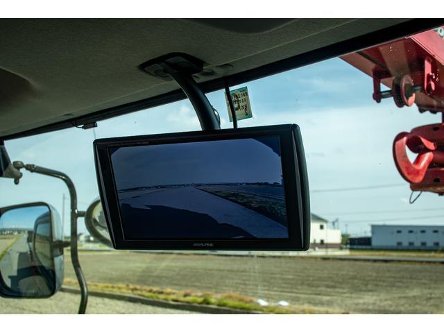 クレーン付き 積載車 極東フラトップ 開閉アオリ ラジコン 4段クレーン 差し違いアウトリガー ミラー型バックカメラ 6MT レッカー キャリアカー(6枚目)