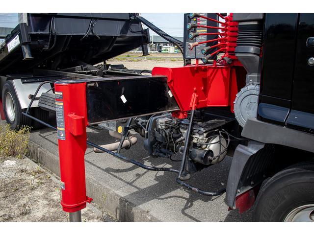 クレーン付き 積載車 極東フラトップ 開閉アオリ ラジコン 4段クレーン 差し違いアウトリガー ミラー型バックカメラ 6MT レッカー キャリアカー(61枚目)