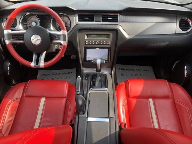 V8 GTグラスルーフレッドホット 地デジナビ レッドレザー(2枚目)