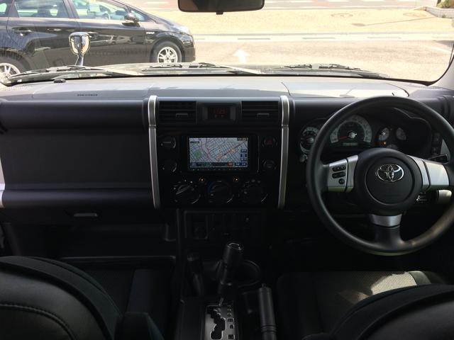 トヨタ FJクルーザー ベースグレード 社外フルセグメモリーナビ ETC
