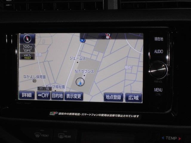 トヨタ アクア Sスタイルブラック TSS-C搭載SD地デジDVD再Bカメラ