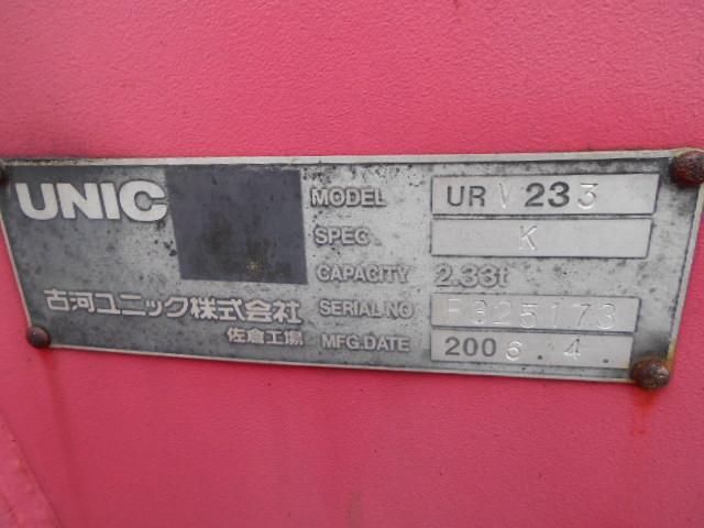 日野 デュトロ 3段クレーン 2.33t吊 2t 5速 古河ユニック 高床