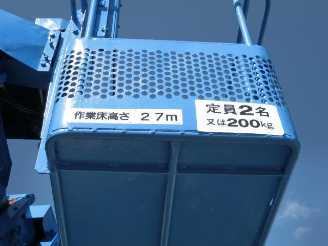 日野 レンジャー 高所作業車 アイチ 27M 張出アウトリガー 鉄バケット