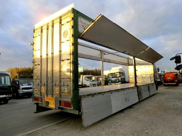 日野 プロフィア チップ運搬車 63立米 12t 7速 4軸低床 アルミアオリ