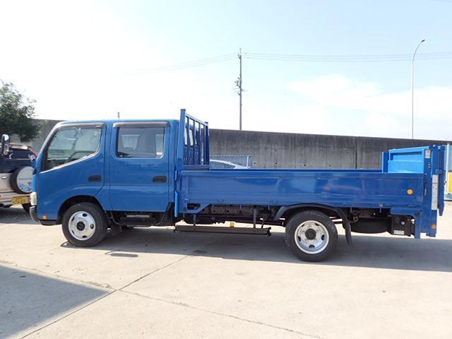トヨタ ダイナトラック 2t ダブルキャブ ロング平ボディ 垂直パワーゲート 5MT