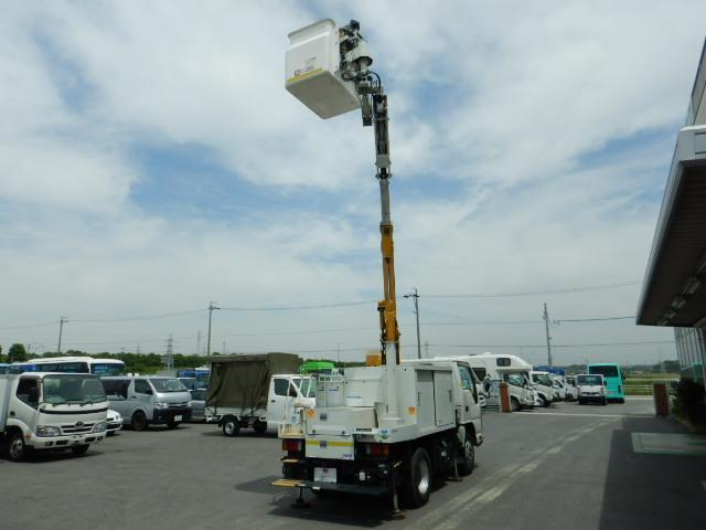 いすゞ エルフトラック 高所作業車 作業高8M アイチ製 6速MT バックカメラ