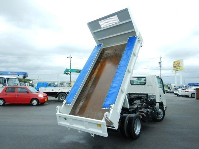 いすゞ エルフトラック 強化ダンプ 2トン 5速MT 全低床 3方開 コボレーン付き