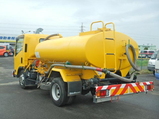 散水車 タンク容量4000L AT車 新明和製 サブEG式(5枚目)