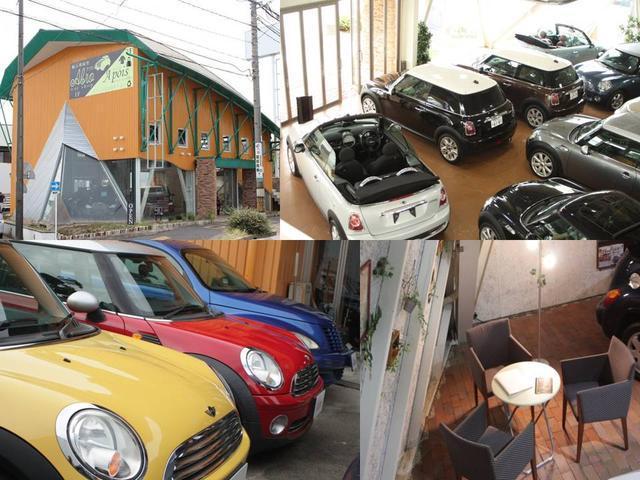 名古屋市天白区にあるアブロ名古屋ショールーム。MINI、BMWを専門に取り揃えており、目を引く独特な店舗デザインが目印になります
