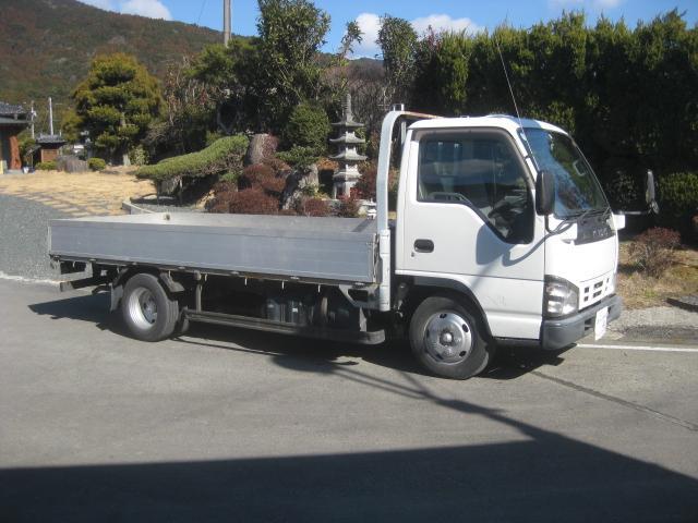 いすゞ エルフトラック NOX適合全低床平ボディーアルミボディー2000kg新免許