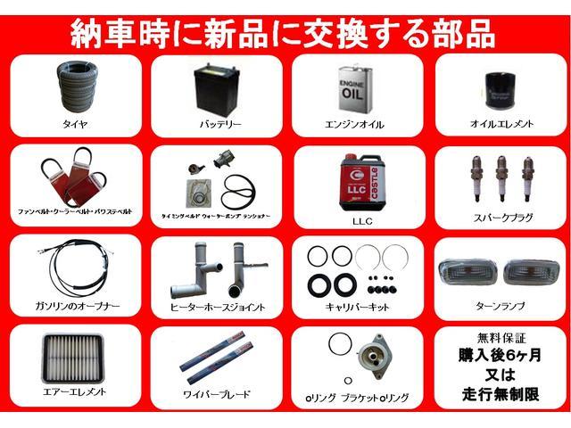 納車時に新品に交換する部品の一覧になります。交換する部品の価格は値段に含まれていますので安心して下さい!