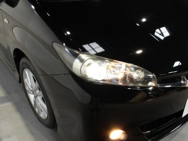 明るい白い光で視界良好なHIDヘッドライト搭載。