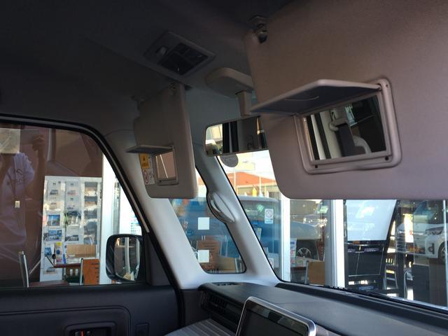 身だしなみをさりげなくチェック出来るバニティーミラーを運転席・助手席に標準装備!うれしいアイテムです♪