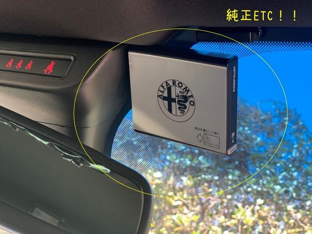 アルファロメオのロゴが入った純正ETCです。フロントガラスに装備されており見ているだけでも気分が上がります♪