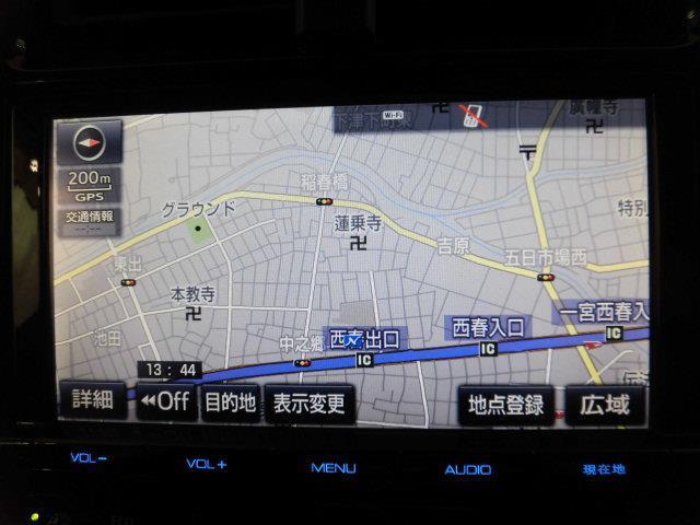 フルセグSDメモリーナビ装備。ドライブ・旅行の前日に地図を調べる必要はもうありません。朝、車に乗ってから行先を入力すれば目的地まで音声で案内してくれます。