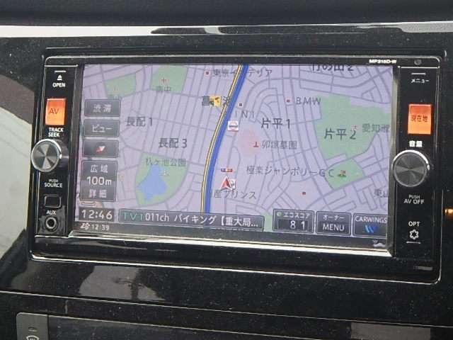 純正メモリーナビ:地図検索はもちろん、FM・AM聴取可能。そのほか地上デジタル放送視聴可能など機能がいろいろ付いています。